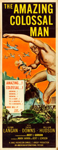 "Movie Posters:Science Fiction, The Amazing Colossal Man (American International, 1957). Insert(14"" X 36"") Albert Kallis Artwork.. ..."