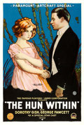 "Movie Posters:War, The Hun Within (Paramount-Artcraft, 1918). One Sheet (28"" X41.5"").. ..."