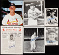 Autographs:Photos, Stan Musial Signed Image Lot of 5.. ...