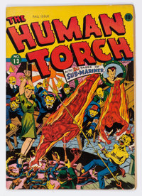 The Human Torch #13 (Timely, 1943) Condition: VF-