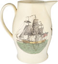 Political:3D & Other Display (pre-1896), Thomas Jefferson: Large Liverpool Pitcher with 1804 Quotation. ...