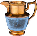 Political:3D & Other Display (pre-1896), Andrew Jackson: Medium-Size Copper Luster Pitcher....