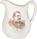 Political:3D & Other Display (pre-1896), Cleveland & Thurman: Ironstone Pitcher....