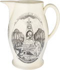 Political:3D & Other Display (pre-1896), George Washington: Liverpool Memorial Jug with Dual Transfers of Washington....