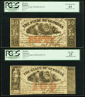 Obsoletes By State:Georgia, Milledgeville, GA- State of Georgia $50; $100 Apr. 1, 1864 Cr. 22; Cr. 21. ... (Total: 2 notes)