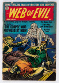 Golden Age (1938-1955):Horror, Web of Evil #15 (Quality, 1954) Condition: GD/VG....