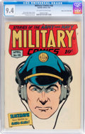 Golden Age (1938-1955):War, Military Comics #38 Mile High pedigree (Quality, 1945) CGC NM 9.4Off-white to white pages....