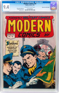 Golden Age (1938-1955):War, Modern Comics #46 Mile High pedigree (Quality, 1946) CGC NM 9.4Off-white to white pages....