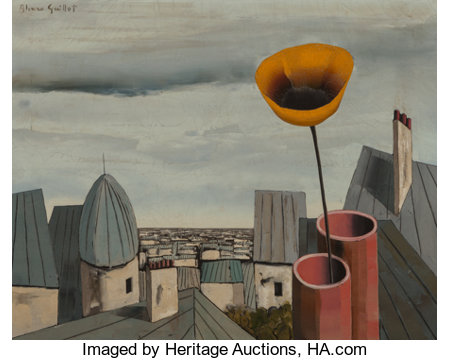Alvaro Guillot (American/French, 1931-2010)Spring on the Rooftops, 1969Oil on canvas24 x 30 inches (61.0 x 76.2 cm...