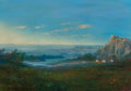 Fine Art - Painting, American, William Standing (American, 1904-1951). Camp at the Edge ofEvening. Oil on canvas. 20 x 28 inches (50.8 x 71.1 cm). Sig...