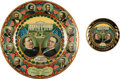 Political:3D & Other Display (1896-present), Taft & Sherman: Jugate Lithographed Tin Beer Tray and TipTray.... (Total: 2 Items)