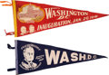 Political:Inaugural (1789-present), Franklin D. Roosevelt: Two Inauguration Pennants From 1937 and 1941.... (Total: 2 Items)