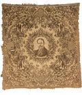 Political:Textile Display (1896-present), William Howard Taft: Large Portrait Tapestry with Cowboy Motifs....