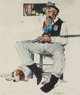 Norman Rockwell (American, 1894-1978) Music Hath Charm Lithograph in colors on paper 21 x 17-3/4 inches (53.3 x 45.1...