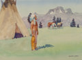 Works on Paper, Leonard Howard Reedy (American, 1899-1956). Blackfoot Chief. Watercolor on paper. 8 x 11 inches (20.3 x 27.9 cm) (sight)...
