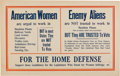 Political:Posters & Broadsides (1896-present), Woman's Suffrage: A Terrific Large Cardboard Poster Drawing on WWIThemes....