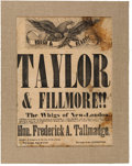 Political:Posters & Broadsides (pre-1896), Taylor & Fillmore: An Important Large 1848 Campaign Broadside from Connecticut. ...