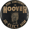 Political:3D & Other Display (1896-present), Herbert Hoover: 1932 Portrait Tire Cover....