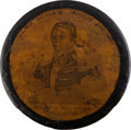 Political:3D & Other Display (pre-1896), Andrew Jackson: Rare Portrait Snuff Box Referencing New Orleans....