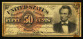Fractional Currency, Fr. 1374 50¢ Fourth Issue Lincoln Very Fine.. ...