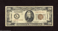 Small Size:World War II Emergency Notes, Fr. 2304 $20 1934 Mule Hawaii Federal Reserve Note. Very Good-Fine. 1934 $20 Hawaiis are much scarcer than their 1934A coun...