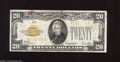 Small Size:Gold Certificates, Fr. 2402 $20 1928 Gold Certificate. Fine. Some red coloring has landed on this note....