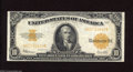 Large Size:Gold Certificates, Fr. 1173 $10 1922 Gold Certificate Very Fine. Wholesome edges and a bright orange back are still retained after all these ye...