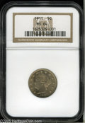 Liberty Nickels: , 1911 5C MS64 NGC. Well struck with bright, satiny mint luster. Alovely and affordable type coin....