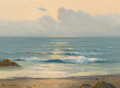 Fine Art - Painting, American, Porfirio Salinas (American, 1910-1973). Dawn on the Shore.Oil on canvas. 12 x 16 inches (30.5 x 40.6 cm). Signed lower ...