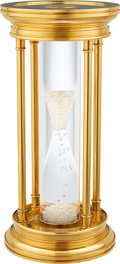 Estate Jewelry:Other, Diamond, Gold Plated Brass Hourglass, De Beers. ...