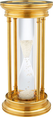 Diamond, Gold Plated Brass Hourglass, De Beers