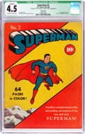 Golden Age (1938-1955):Superhero, Superman #2 Billy Wright pedigree (DC, 1939) CGC Qualified VG+ 4.5 Off-white to white pages....