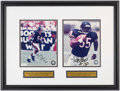 Autographs:Photos, 2000s Brian Urlacher & Anthony Thomas Signed PhotographsDisplay. . ...