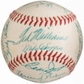 Autographs:Baseballs, 1955 Boston Red Sox Team Signed Baseball (24 Signatures). . ...
