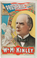 Political:Posters & Broadsides (1896-present), William McKinley: Huge 1900 Campaign Poster with Stunning Color Graphics. ...