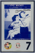 Autographs:Others, Mickey Mantle Signed Display.. ...
