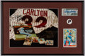 Autographs:Others, Steve Carlton Twice-Signed Display.. ...
