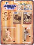 Autographs:Others, Stan Musial & Bob Gibson Signed Starting Lineup.. ...