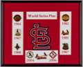 Baseball Collectibles:Pins, 1964-2006 St. Louis Cardinals World Series Pin Display (8 Pins).....
