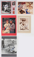 Autographs:Others, St. Louis Cardinals Signed Display Lot of 5.. ...