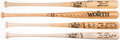 Autographs:Bats, Hall of Fame Signed Bat Lot of 4 with Brett, Ryan, Sandberg, &Williams.. ...