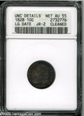 Bust Dimes: , 1828 10C Large Date--Cleaned--ANACS. Unc Details, Net AU55. JR-2,R.3. Only two die pairings for this better date, and each...