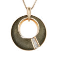Estate Jewelry:Necklaces, Diamond, Obsidian, Rose Gold Necklace, Chimento . ...