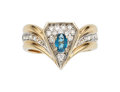 Estate Jewelry:Rings, Blue Topaz, Diamond, Gold Ring, Erté. ...