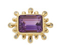 Estate Jewelry:Rings, Amethyst, Diamond, Gold Ring, Donald Huber. ...