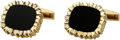 Estate Jewelry:Cufflinks, Black Onyx, Gold Cuff Links, Cartier. ...
