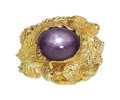 Estate Jewelry:Rings, Purple Star Sapphire, Gold Ring. ...