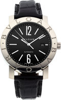 Estate Jewelry:Watches, Bvlgari Gentleman's Stainless Steel Bvlgari Solotempo Watch. ...