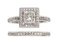 Estate Jewelry:Rings, Diamond, Platinum Ring Set, A. Jaffe. ... (Total: 2 Items)