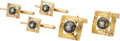 Estate Jewelry:Cufflinks, Black Star Sapphire, Gold Dress Set. ... (Total: 4 Items)